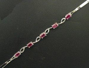 18K White Gold 1.76cts Ruby Bracelet