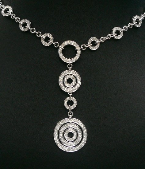 18K White Gold 2.73cts Diamond Necklace