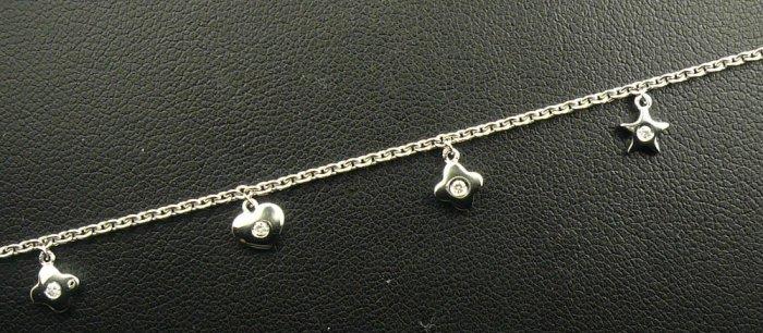 18K White Gold 0.11cts Diamond Bracelet