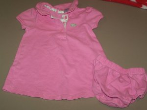 Cherokee Pink Polo Dress 6m