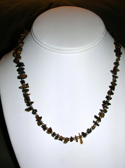 Unisex tiger's eye necklace