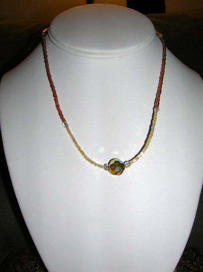 Iridescent beaded necklace