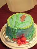 Seahorse and octopus cake