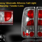 99-06 CHEVY SILVERADO ALTEZZA TAIL LIGHT CHROME/SMOKE