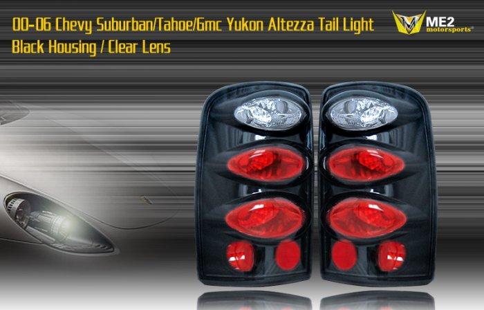 00-06 SUBURBAN/TAHOE/YUKON ALTEZZA TAIL LIGHT BLK/CLEAR