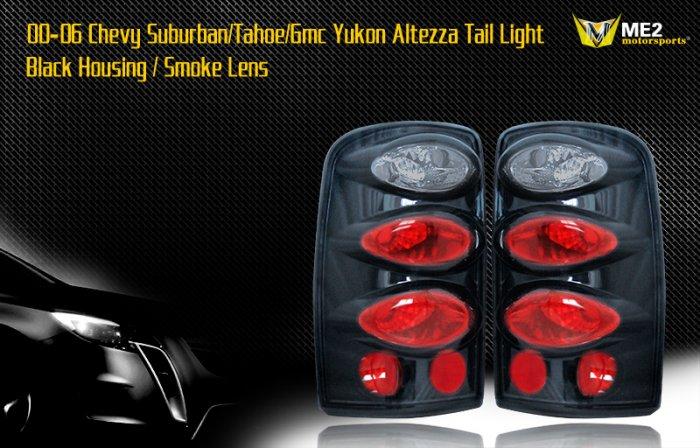 00-06 SUBURBAN/TAHOE/YUKON ALTEZZA TAILLIGHT BLK/SMOKE