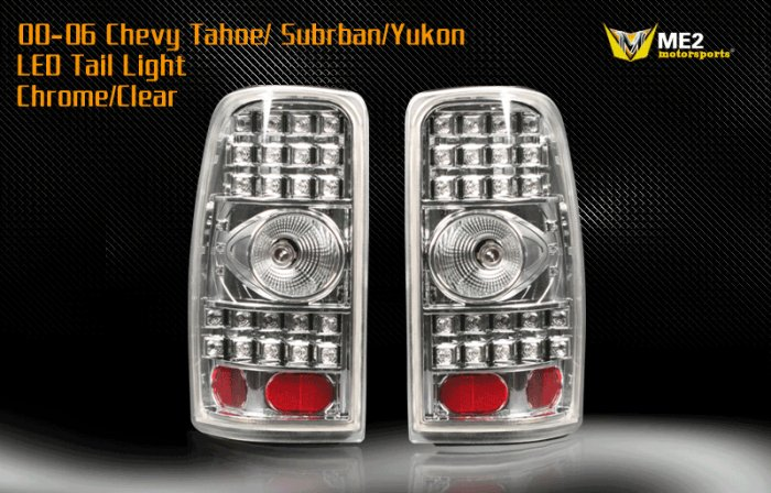 00-06 Chevy Tahoe/Suburban/Yukon LED TailLight CHROME
