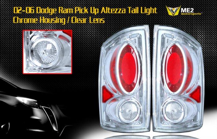 02-06 DODGE RAM PICK UP ALTEZZA TAIL LIGHT CHROME/CLEAR