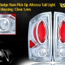02-06 DODGE RAM PICK UP ALTEZZA TAIL LIGHT CHROME/CLEAR