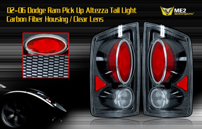 02-06 DODGE RAM PICK UP ALTEZZA TAIL LIGHT CARBON FIBER
