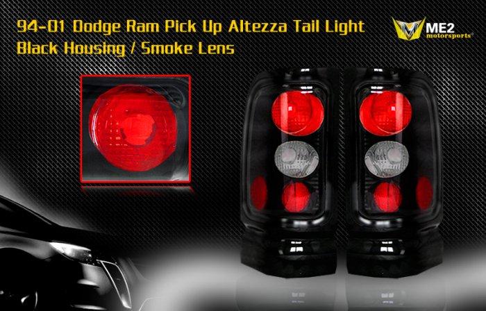 94-01 DODGE RAM ALTEZZA TAIL LIGHT BLACK SMOKE