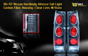 86-97 NISSAN HARDBODY ALTEZZA TAIL LIGHT CARBON FIBER