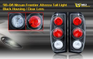 98-04 NISSAN FRONTIER ALTEZZA TAIL LIGHT BLACK CLEAR