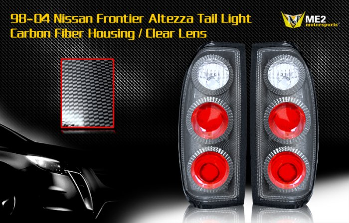 98-04 NISSAN FRONTIER ALTEZZA TAIL LIGHT CARBON FIBER