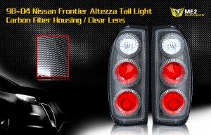 98-04 NISSAN FRONTIER ALTEZZA TAIL LIGHT CARBON FIBER