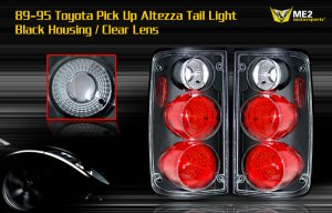 89-95 TOYOTA PICK UP ALTEZZA TAIL LIGHT BLACK CLEAR