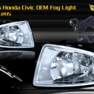 04-05 HONDA CIVIC JDM FOG LIGHT LAMPS- CLEAR