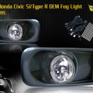 99-00 HONDA CIVIC SI/TYPE R JDM FOG LIGHT CLEAR