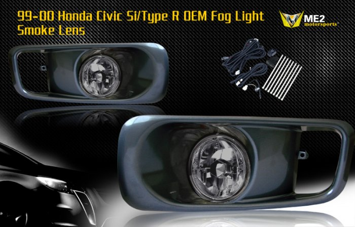 99-00 HONDA CIVIC SI/TYPE R JDM FOG LIGHT SMOKE