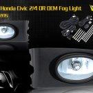 01-03 HONDA CIVIC 2/4 DR JDM FOG LIGHT CLEAR