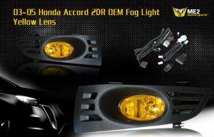 03-05 HONDA ACCORD 2DR COUPE JDM FOG LIGHT YELLOW