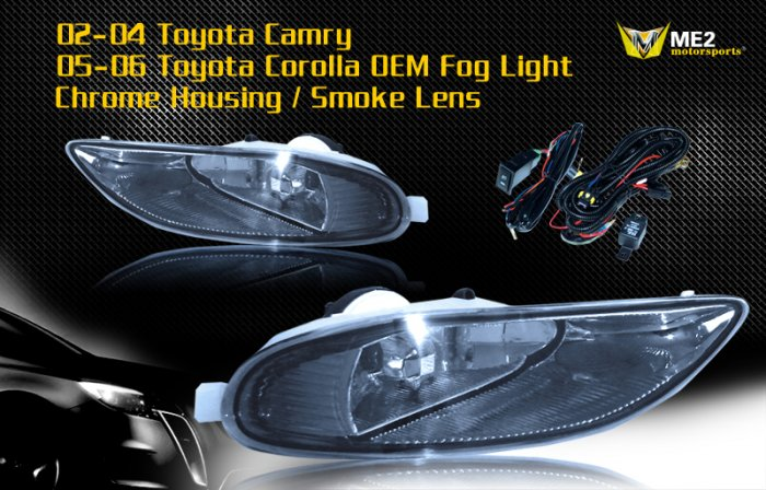 02-04 TOYOTA CAMRY / 05-06 COROLLA JDM FOG LIGHT SMOKE