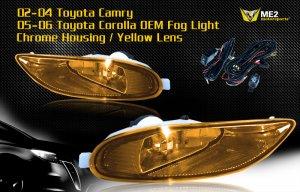 05-06 TOYOTA COROLLA CE/LE/S JDM FOG LIGHT YELLOW
