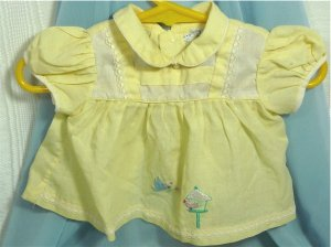 Vintage Yellow Baby Dress, Cradle Time, for a Favorite Doll