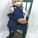 """Little Jack Horner""  Porcelain Doll, OOAK Interpretation of Connie Derek's ""Fall"", Playtime Series"