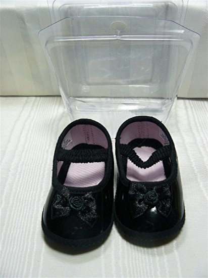 Black Patent Mary Jane Doll Shoes for Larger Doll, NIP