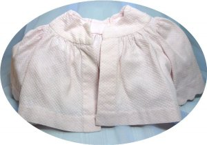 Pink Pique Baby Coat:  Vintage Piece with Scalloped Accents