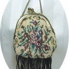 "Old-fashioned Look ""Needlepoint"" Purse for a Large Doll:  Cute!"
