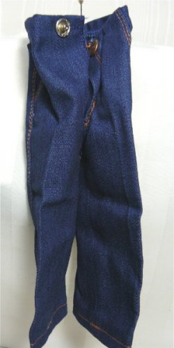 "Cute Jeans for 12"" Fashion Doll:  NP with Stitching, Pockets, and Snap Closing"