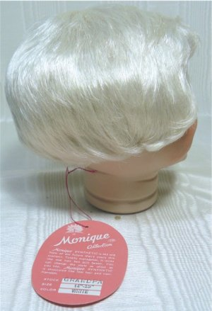 "Monique Doll Wig ""Grandpa"":  Sz 14-15, White, NIB **"