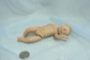 "Anatomically Correct Newborn Boy:  All Porcelain, 5-1/2"" Tall, Ready to Dress"