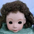 Dark Brown Tallina's Doll Wig, Sz 9-10, New, Long Curls