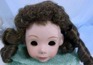 Dark Brown Tallina's Doll Wig, Sz 9-10, New, Long Curls