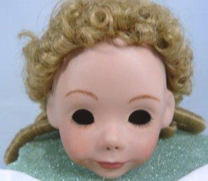 Blonde Monique Wig, Sz 8-9, Long Curls for Antique Reproduction Doll