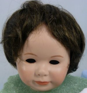 Tallina's 359 Doll Wig: Dark Brown, Sz 14, Smooth Full Style