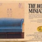 House of Miniatures' Kit:  Chippendale Sofa, NOS, NIB, for You to Make