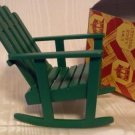 Single Green Rocking Lawn Chair, Town Square Miniatures, Great Addition to a Set, NIB, NOS