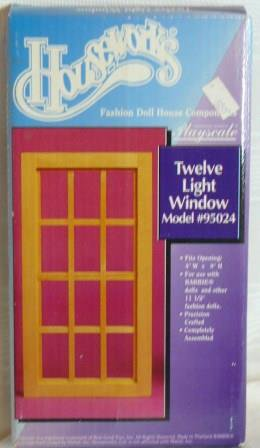 *****Houseworks Twelve Light Window, Model #95024, Playscale 1:6, NIB/NOS