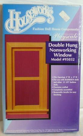 HW Double Hung Nonworking Window, Model #95032, Playscale 1:6, NIB/NOS