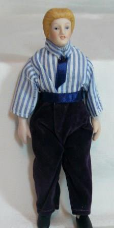 All Porcelain Man/Father Dollhouse Miniature, NOS