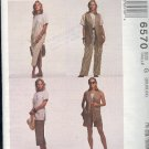 McCall's Sewing Pattern 6570 Vest, Top, Skirt in two lengths, Pants, Shorts, Size 20,22 and 24.