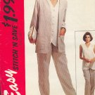 McCall's Sewing Pattern 6972 Pant Suit - Jacket Vest and Pants, Size 10 12 14 16