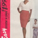 McCall's Sewing Pattern 7042 Wrap Skirt in two lengths and V neck top, Size 14 16 18 20