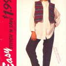 McCall's Sewing  Pattern 7216 Lined Vest, Skirt and Pants, Size 12 thru 16