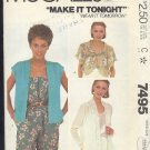 McCall's  Sewing Pattern 7495 Pretty Summer Cover Ups Size 14 - 16