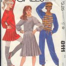 McCall's Sewing Pattern 8111 Sweats, top, pants, skirt Size 14 16
